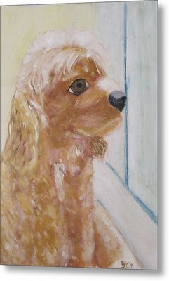 Rusty Aka Digger Dog Metal Print