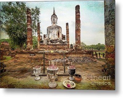 Sukhothai Buddha Metal Print by Adrian Evans