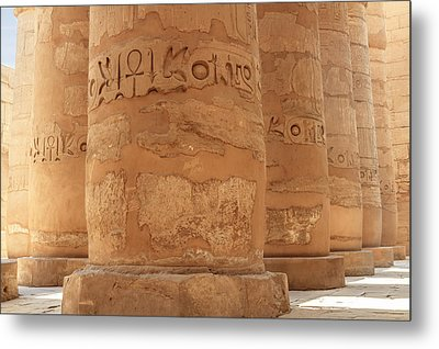 Metal Print featuring the photograph Temple Of Karnak by Silvia Bruno