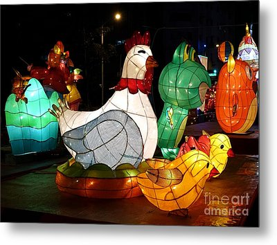 Metal Print featuring the photograph The 2017 Lantern Festival In Taiwan by Yali Shi