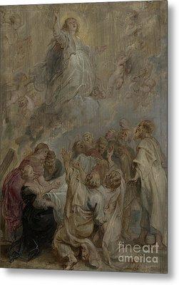 The Assumption Of The Virgin Metal Print by Peter Paul Rubens