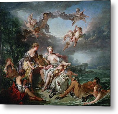 The Rape Of Europa Metal Print by Francois Boucher