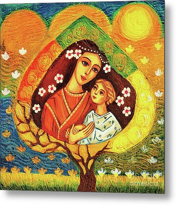 Metal Print featuring the painting Tree Of Life by Eva Campbell