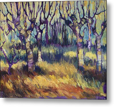 Van Gogh's Orchard Metal Print by Peggy Wilson
