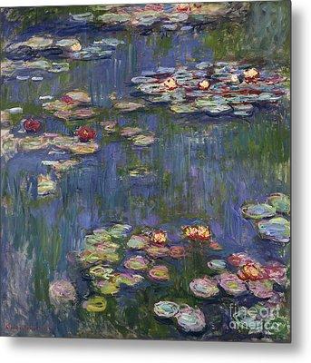 Water Lilies, 1916 Metal Print by Claude Monet