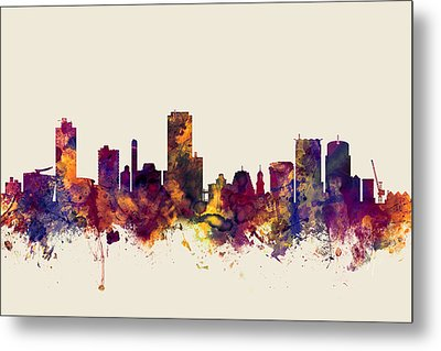 Wellington New Zealand Skyline Metal Print by Michael Tompsett
