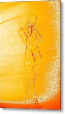 2009 Figure Study 6 Metal Print by Carol Rashawnna Williams