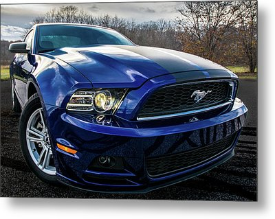 Metal Print featuring the photograph 2014 Ford Mustang by Randy Scherkenbach