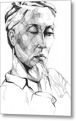 Metal Print featuring the drawing 20140109 by Michael Wilson