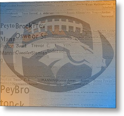 2015 Denver Broncos Players Metal Print by Dan Sproul