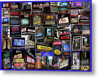 2016 Broadway Spring Collage Metal Print by Steven Spak