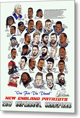 2017 New England Patriots Superbowl Champs Metal Print