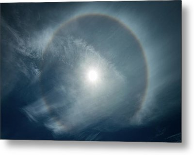 Metal Print featuring the photograph 22 Degree Solar Halo by William Lee