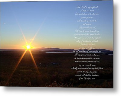 Metal Print featuring the photograph 23rd Psalm by Greg DeBeck