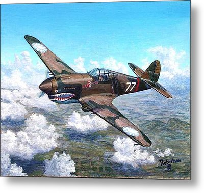 Flying Tiger Over China Metal Print by Scott Robertson