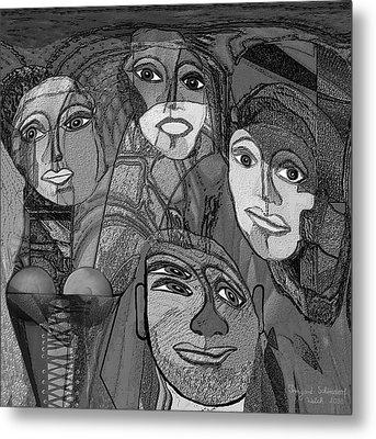 256 - Nice People Metal Print by Irmgard Schoendorf Welch