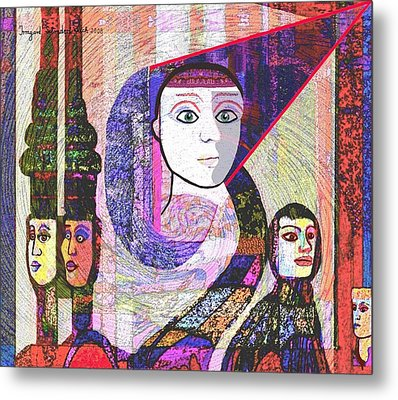 275 - Statuesque Metal Print by Irmgard Schoendorf Welch