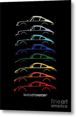Boxer Sports Car Silhouettehistory Metal Print