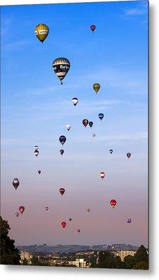 Colorful Balloons On Colorful Sky Metal Print by Angel  Tarantella