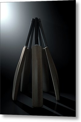 Cricket Back Circle Dramatic Metal Print