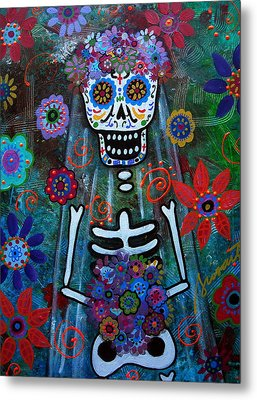Day Of The Dead Bride Metal Print by Pristine Cartera Turkus