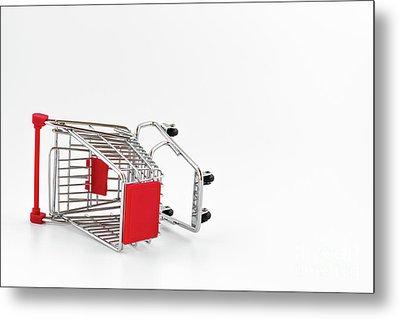 Empty Shopping Cart Metal Print
