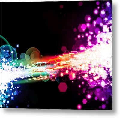 Explosion Of Lights Metal Print by Setsiri Silapasuwanchai