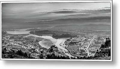 Metal Print featuring the photograph Ferrol's Ria Panorama From Mount Ancos Galicia Spain by Pablo Avanzini