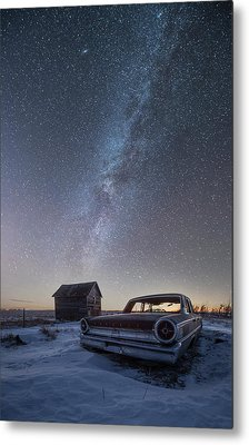 Metal Print featuring the photograph 3 Galaxies  by Aaron J Groen