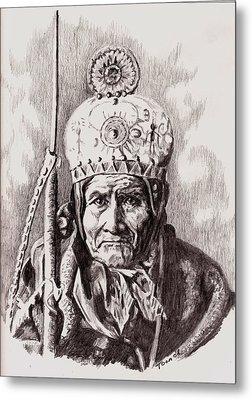 Geronimo Metal Print by Toon De Zwart