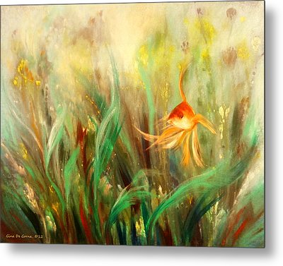 Gold Fish Metal Print
