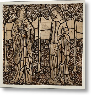 Guinevere And Iseult Metal Print