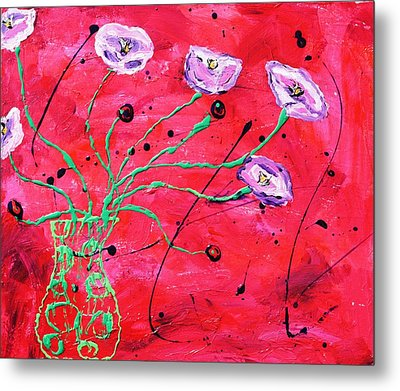 Happy Poppies Metal Print by Victoria  Johns
