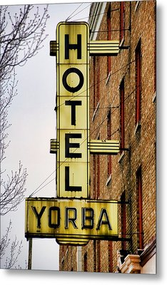 Hotel Yorba Metal Print by Gordon Dean II