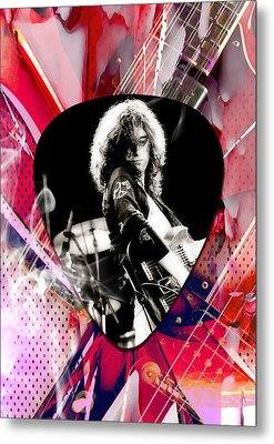 Jimmy Page Led Zeppelin Art Metal Print