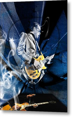 Joe Bonamassa Blues Guitarist Art Metal Print by Marvin Blaine