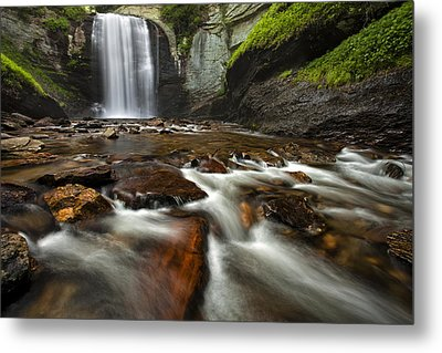 Looking Glass Falls Metal Print by Andrew Soundarajan