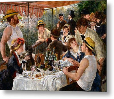 Luncheon Of The Boating Party Metal Print