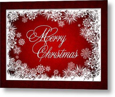 Merry Christmas Card Metal Print