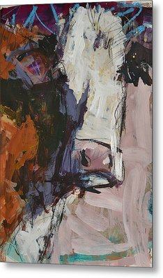 Modern Abstract Cow Painting Metal Print