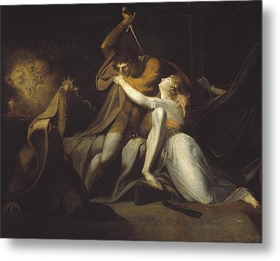 Percival Delivering Belisane From The Enchantment Of Urma Metal Print by Henry Fuseli