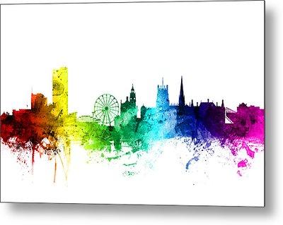 Sheffield England Skyline Metal Print by Michael Tompsett