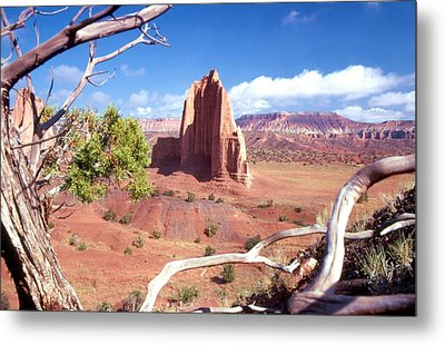 Temple Of The Moon Metal Print by John Foote
