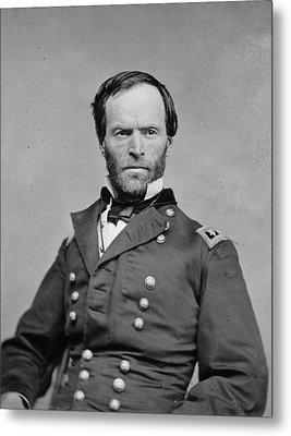 The Civil War. General William Tecumseh Metal Print by Everett