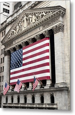 The Facade Of The New York Stock Metal Print