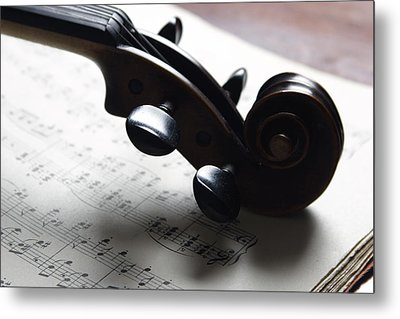 Violin Metal Print by Nichola Evans