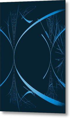 35 In Blue Metal Print