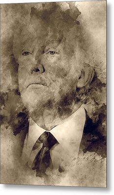 Donald Trump Metal Print by Elena Kosvincheva