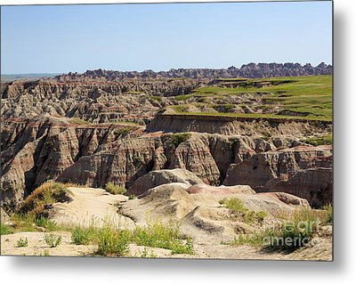 Badlands National Park South Dakota Metal Print by Louise Heusinkveld