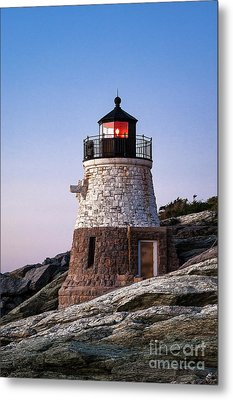 Castle Hill Lighthouse Metal Print by John Greim